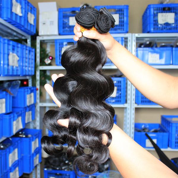 Бразильские Расширения Волны Тела Индийский Перуанский Малайзийский Девственные Волосы Плетения Пучки Долаго Оптовая Необработанные Человеческие Волосы