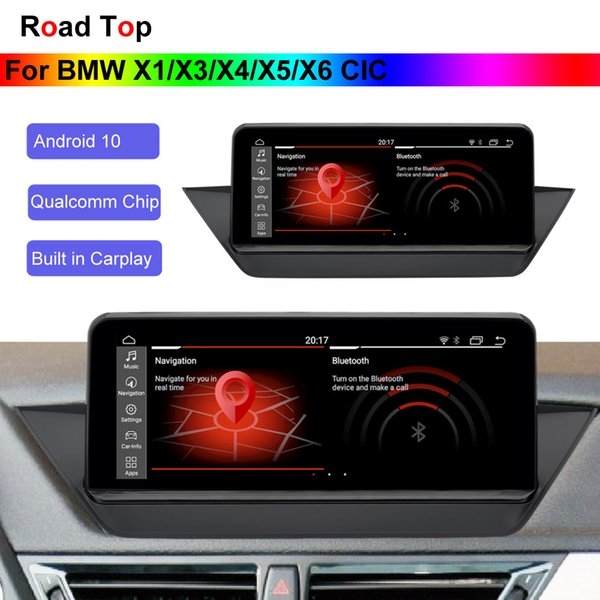 "10.25"" android 10 os display for bmw x1/x3/x4/x5/x6 car 2009-2015 with gps navigation wifi stereo dash multimedia player"