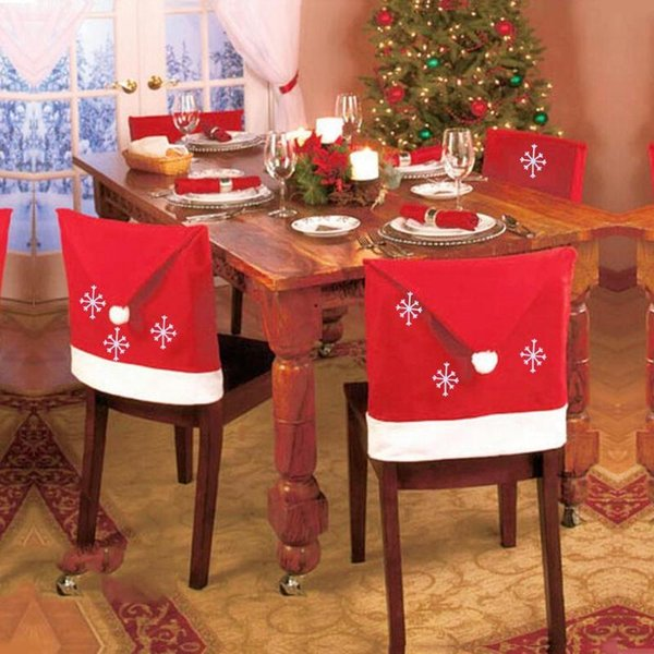 Xmas Christmas Tablecloth Red Hat Chair cover navidad Table Cover Decor Merry Christmas Decoration for Home Natal