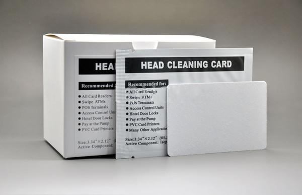 Ücretsiz Kargo-100 adet otel kapı kilidi kart okuyucu ATM temizleme kartı atm tokatlamak dip kart okuyucular temizleme