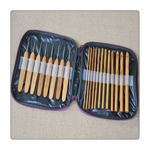 Bamboo Crochet Hooks Hand Tools fulfill different needs Knitting Needles with Case Convenient Needles Home Supplies