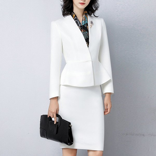 White Mother of the Bride Suits Slim Fit Women Business Suits Tuxedo Blazer For Wedding(Jacket+Pants)