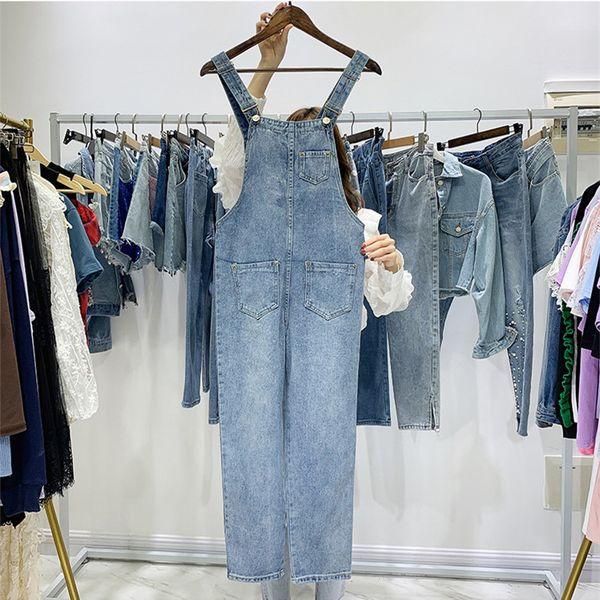 2019 Summer Autumn Women Unique Design Fashion Suspender Denim Jumpsuit A930