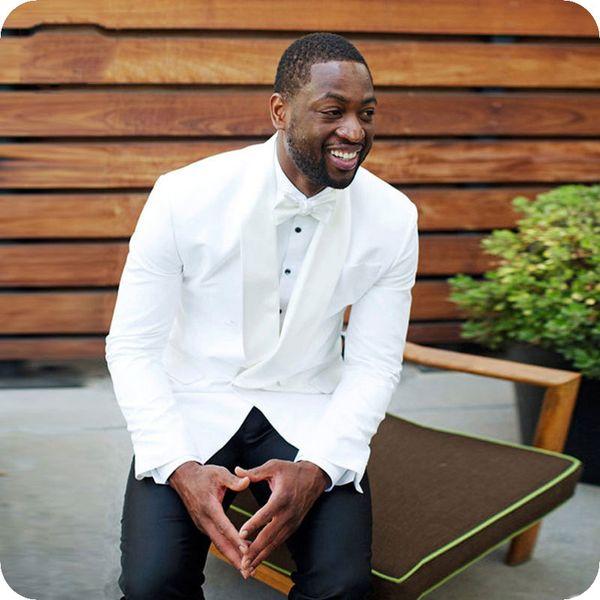 White Men Suits for Wedding Double Breasted Slim Groom Tuxedo Groomsmen Suit Man Blazer 2Piece Jacket Latest Coat Pant Designs Costume Homme