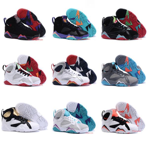 Crianças Sneakers hot Quality Kids 7 VII Sapatos de Basquete Meninos Meninas Crianças Atlético tênis de basquete Frete Grátis 28-35