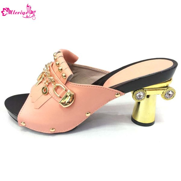Pink Lady Wedding Pumps Women Shoes High Quality Luxury Sandals Shoes Women Designers High Heels Women Shoes for Nigerian Party