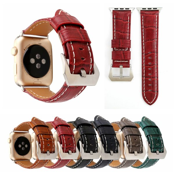 Crocodile Genuine Leather Strap For Apple Watch Band For iwatch Sizes 38mm 42mm Replament Wristband Bracelet Strap