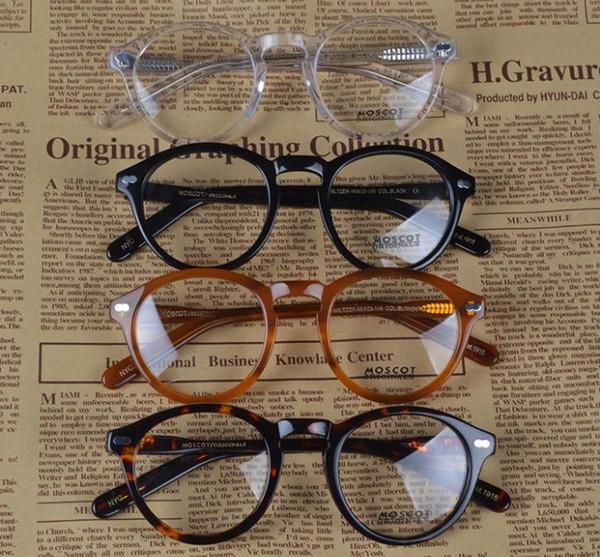 Moda Marka Tasarımcısı M Boyutu Gözlük Çerçeveleri Miltzen Gözlük Çerçeve Johnny Depp Ile Yüksek Kalite Yuvarlak Erkekler Opsiyonel Miyopi 1915