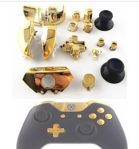 2019 Riparazione parti di ricambio Chrome Gold ABXY Dpad Triggers Set completo di pulsanti Kit controller per Xbox One XboxONE 16pcs / Set