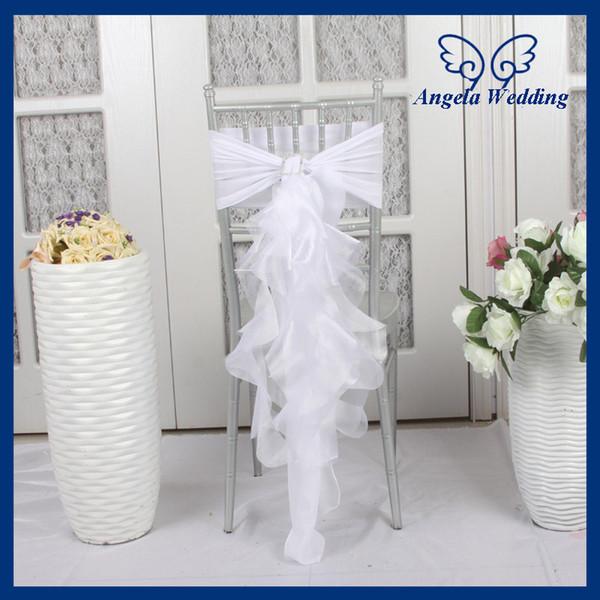 흰색 Chiavari의 의자