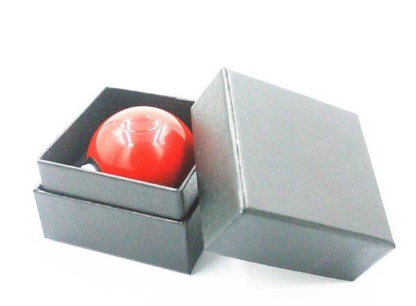 Direktverkauf von Dreischicht-Zinklegierung + ABS-Kunststoff-Rauchmühle mit einem Durchmesser von 55MM Fairy Ball-Geschenkbox für Zerkleinerungsgeräte