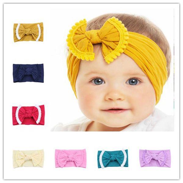 Baby Girl Tassel Arco Turbante Headbrap Nó Macio Arco Headband Do Bebê Crianças faixas de Cabelo Headwrap Hairband Meninas Presente Do Partido Acessórios Para o Cabelo