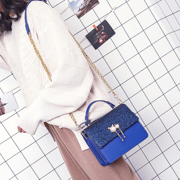2019 Moda Cadeia De Borla Mulheres Bolsa Pu Bolsas De Couro Pu Bolsa de Ombro Pequena Flap Crossbody Sacos Para Mulheres Messenger Bags