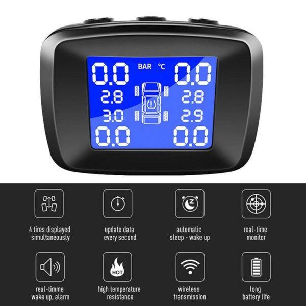 자동차 TPMS 무선 타이어 압력 모니터링 시스템 LCD + 4 외부 센서 IN