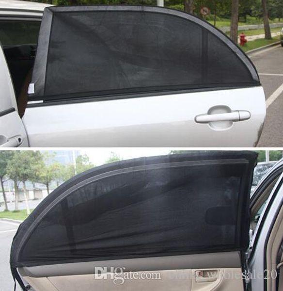 Free shipping 2Pcs Car Side Rear Windshield Window Glass Sun Shade Mesh Cover Solar UV Protection Visor Shield Sunshade Auto Accessories