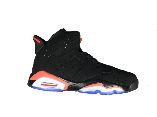 6s basketball shoes 6 Black Infrared 3M reflection new arrival 2019 Version high Top men trainer shoes with box