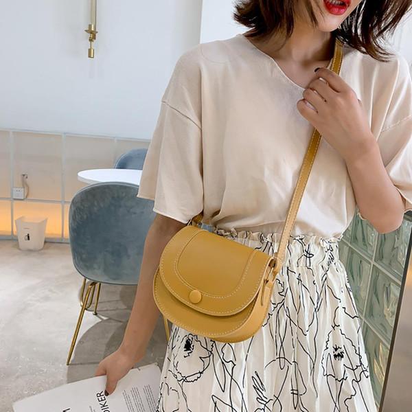 Bolso de hombro pequeño simple para mujer Mini bolso de silla de montar Moda para mujer Bolsos cruzados Bolsos de lujo Bolsos de mensajero de alta calidad # 20