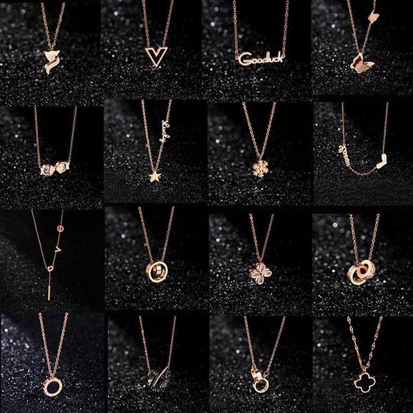 20 stili Gioielli di design Black Swan Clover Necklace Collana in oro rosa 18 carati Platinum Luxury Woman regalo da innamorati