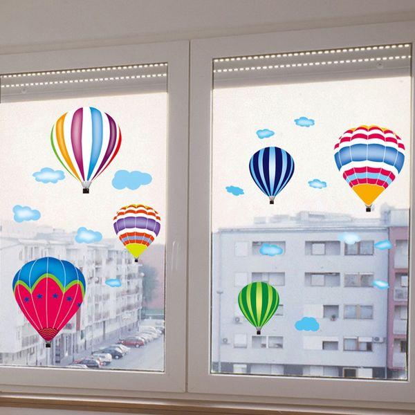 Etiqueta engomada hermosa de la pared del PVC del globo del aire caliente