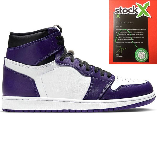 3 Court Purple White