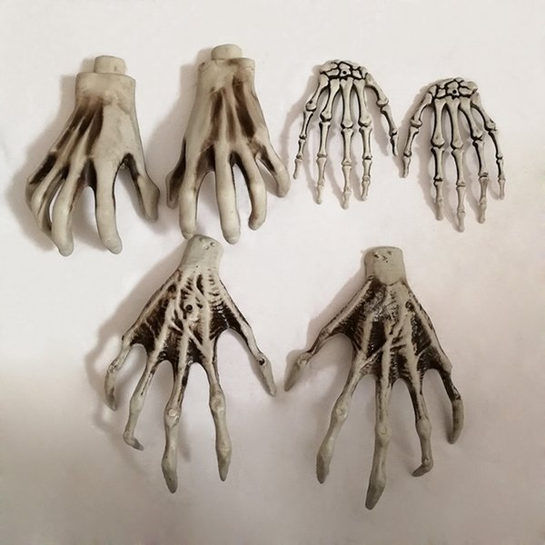 Halloween Skeleton Hands Witch Hands for Decrating Plastic Bar Haunted House Decoration Halloween Horror Props Decoration 2pcs/lot RRA1637