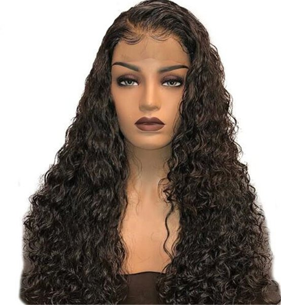 Free Part Full Lace Human Hair Wigs With Baby Hair Natural Hairline Kinky Curly Malaysian Virgin Lace Front Wigs For beautiful Black Women