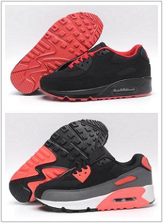 NIKE Air Max 90 2019 Мужская обувь классика 90 Мужская и женская обувь Черный Красный Белый Тренер Воздушной Подушке Поверхность Дышащая Повседневная Обувь 36-45