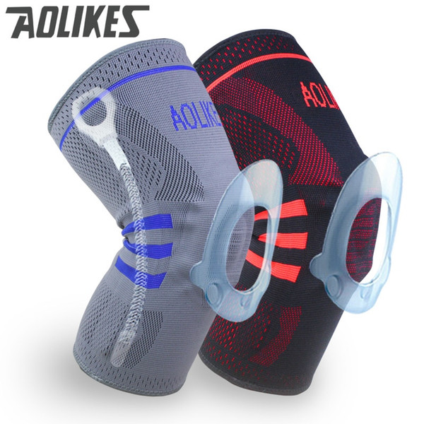 1pc Basketball Knee Brace Compression knee Support Sleeve Injury Recovery Volleyball Fitness sport safety sport protection gear #18297