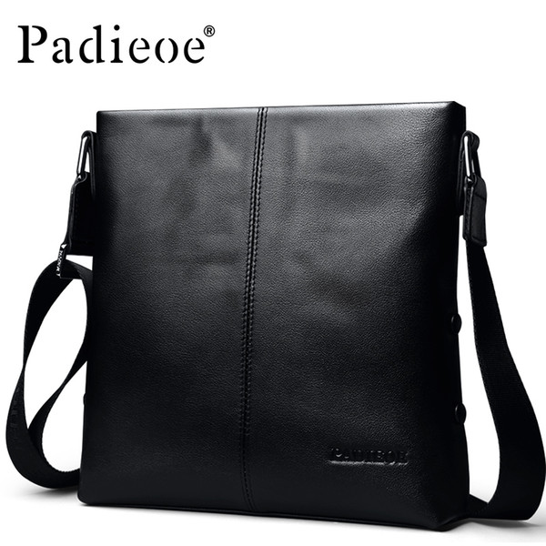 New genuine leather men's fashion business men's leather Messenger bag high luxury quality men's leather shoulder Messenger bag