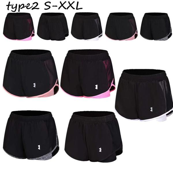NK Koşu Şort Kadın Spor Yoga Kısa Pantolon Yaz Spor Kavisli Hem Pantolon Çabuk Kuru Jogging Yapan Şort Açık Giyim C73003