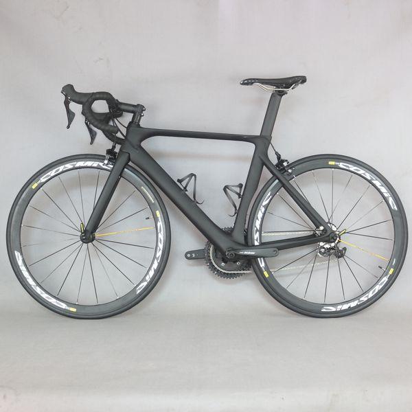 Carbon road bike fm268 aero de ign 2019 full carbon road bike complete bicycle carbon cycling road bike with r8000 22 peed grou