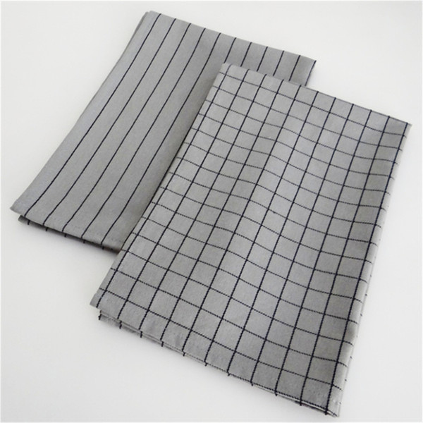 top popular Nordic style household table napkin table mat food background photo grid tablecloth grey cotton kitchen table 2021