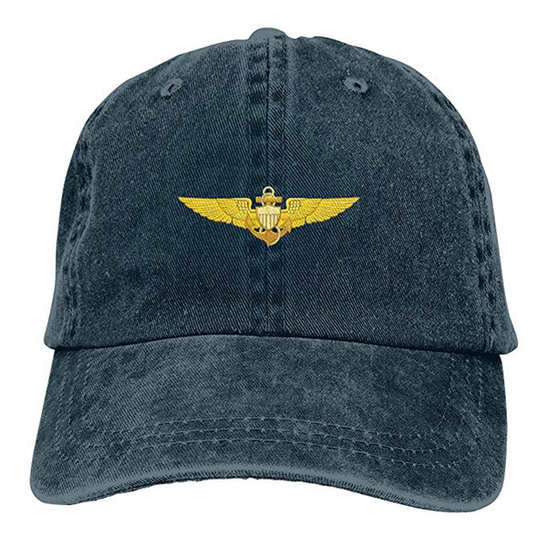 2019 New Designer Baseball Caps US Navy Pilot Wings Mens Cotton Adjustable  Washed Twill Baseball Cap 3b3a718df223