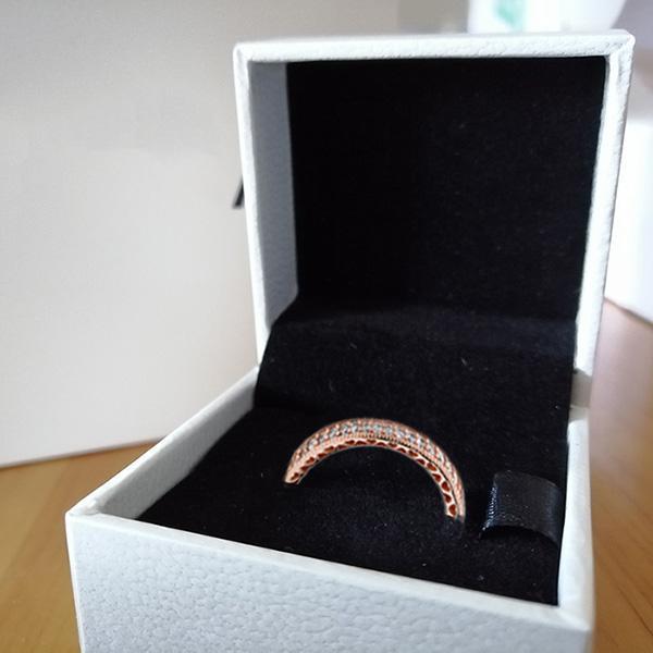 Розовое кольцо + коробка