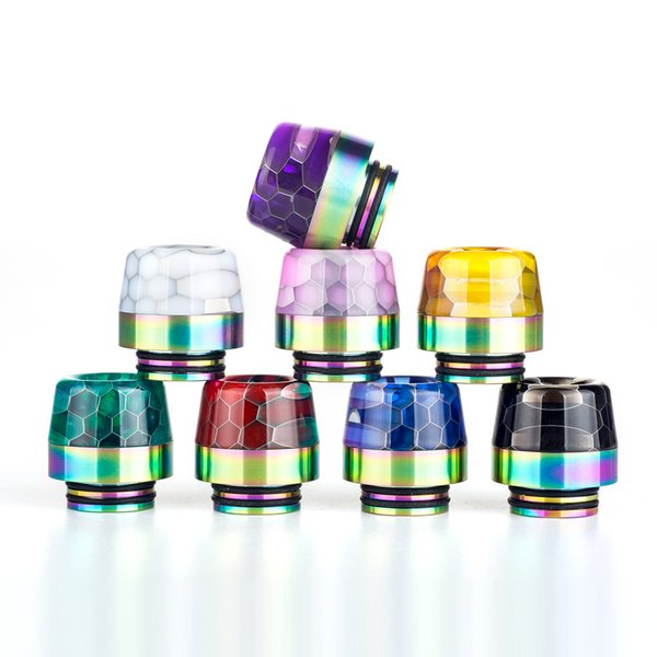 best selling 810 drip tip Rainbow Snake Skin Shape long Epoxy Resin TFV8 Drip Tip fit TFV8 Big Baby TFV12 Prince 810 Atomizers