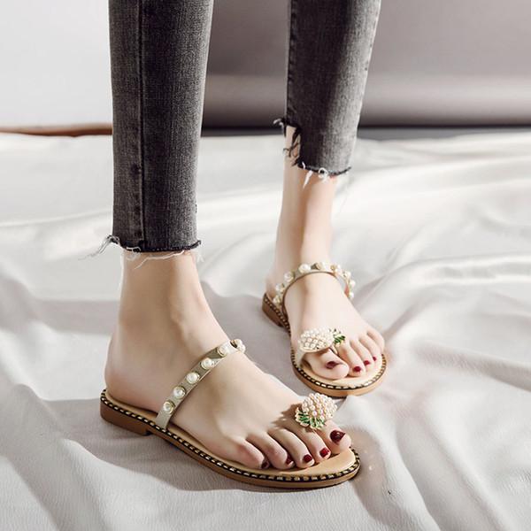 MUQGEW с плоским дном тапочки женщина Богемия пляж флип-флоп пощечины женщины лето клип ног студентов сандалии пляжная обувь zapatos