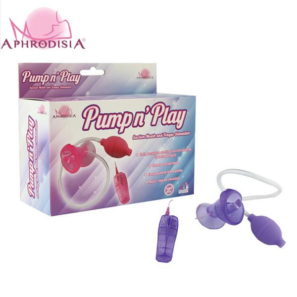 Aphrodisia Mini G-spot Vibrador Buceta Bomba De Ventosa de Sucção Vibração Tongue Stimulator Vacuum Buceta Cup Clitóris Sex Toy Para As Mulheres Y19061902