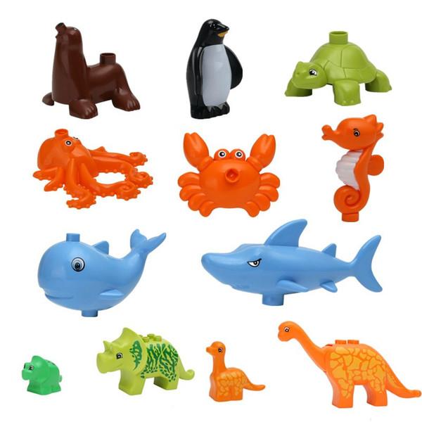 Underwater World Sea Animals Creative Children Building Blocks Brick Baby Blocks Education Toys