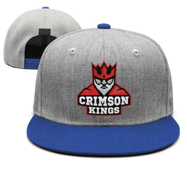 King Crimson logo for men blue snapback basketball custom design your own team adjustable hats