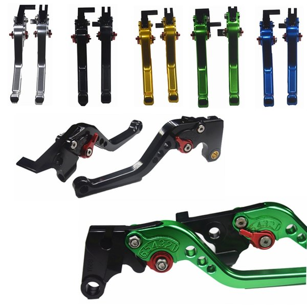 best selling Brake Clutch Levers Short&Long For GSXR1000 2007-2008 GSXR 1000 GSX-R1000 Motorcycle Adjustable CNC Brake Clutch Levers