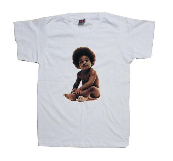 Notorious BIG Ready To Die Cover - White t Shirt Biggie Baby Shirt cattt windbreaker Pug tshirt