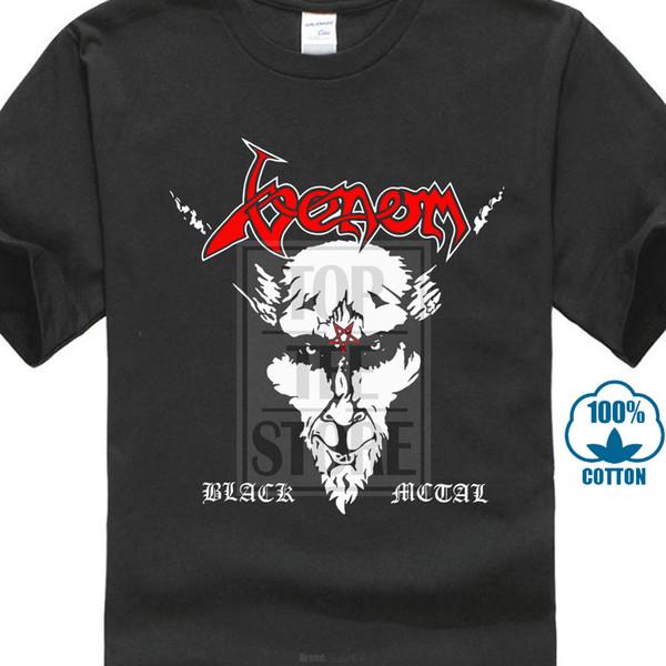 Venom Noir Métal Rock Band T Shirt Logo Rouge Vente Pas Cher 100% Coton T-shirts Pour Garçons Mâle Meilleure Vente T Shirt Normal