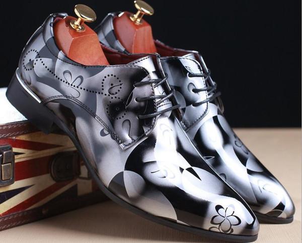 Men's crocodile pattern elegant men's patent leather dress shoes leather classic designer suit shoes wedding party red leather bottom