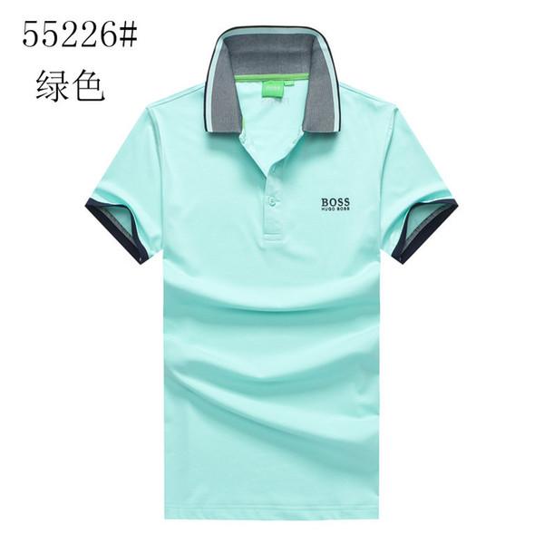 Moda masculina bo ss polo camisa bos s polos dos homens de negócios Lazer Negócios t camisas de verão Respirável camisa polo moda clássico polo camisas 33