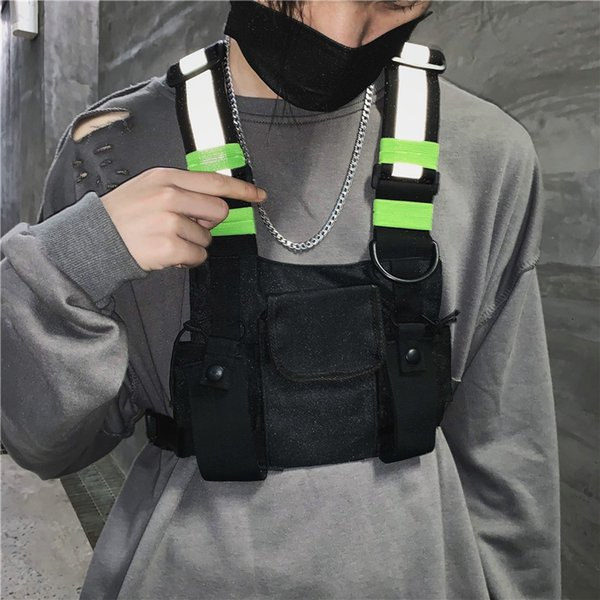 best selling Fashion Chest Rig Bag Camouflage Tactical Vest Harness Front Pack Pouch Holster Vest Rig Hip Hop Streetwear Functional Chest Bag SH190924