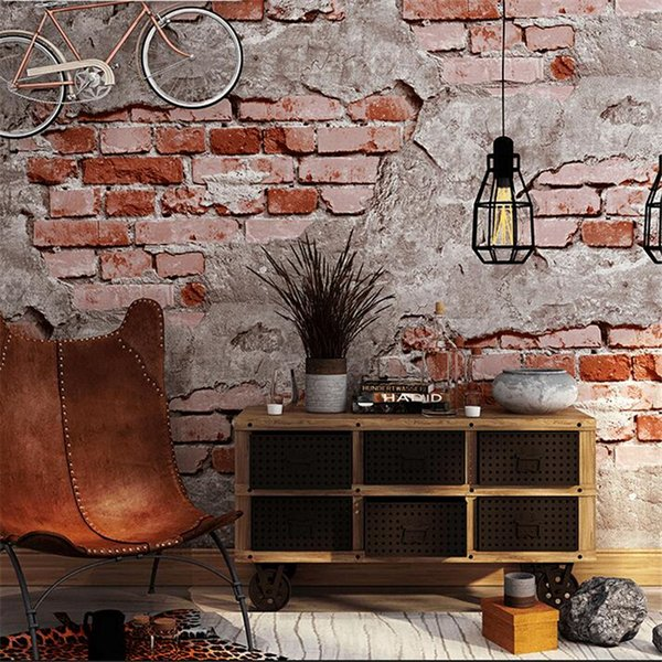 brick pattern wallpaper brick retro culture stone wallpaper industrial wind loft coffee restaurant background