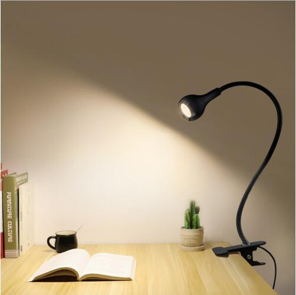 Clip Holder USB power Led desk lamp Flexible Table Lamp bedside lamp Book light for the bedroom living room home decoration