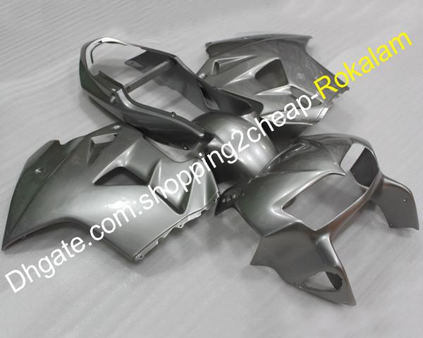 Carrocería kit del mercado de accesorios VFR800 para Honda 1998 1999 2000 2001 VFR-800 98 99 00 01 VFR 800 VFR 800RR Moto carenado de plata