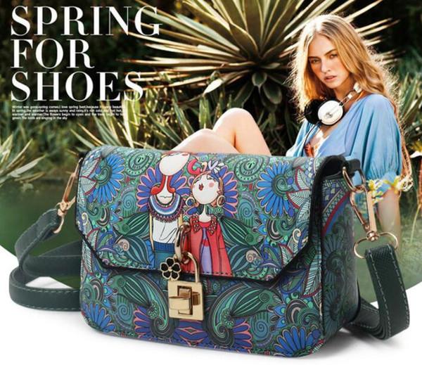 2019 nouveau sac femme mode coréenne épaule oblique cross-bag personnalisé sac à main imprimé pu femmes sac polyvalent petit sac carré Livraison gratuite