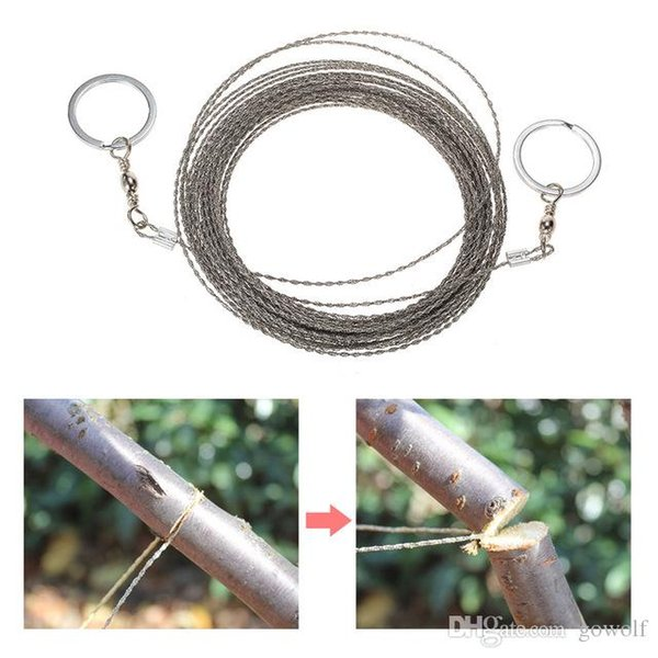 Pocket 73cm Stainless Steel Wire Saw Outdoor Practical Emergency Gadgets Survival Gears Tools for Camping Backpacking Mountains